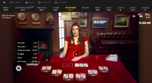 BetGamesTV žaidimas pokeris